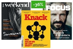 logo Knack magazine & Weekend + Focus